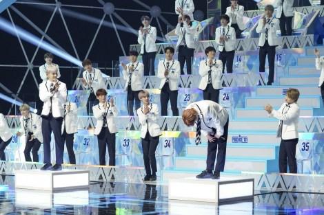 『PRODUCE 101 JAPAN SEASON2』第1回順位発表1位発表の瞬間