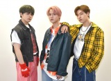 3RDシングル「CHALLENGER」を発売したJO1(左から)鶴房汐恩、白岩瑠姫、金城碧海 (C)ORICON NewS inc.