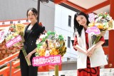 映画『地獄の花園』(5月21日公開)の大ヒット祈願イベントに出席した菜々緒(左)と永野芽郁 (C)ORICON NewS inc.