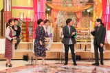 『ホンマでっか!?TV』に出演する(左から)保田圭、吉田敬、井上和香、りんたろー。徳井健太、吉村崇(C)フジテレビ