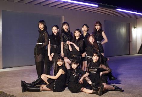 新メンバー3人(前列左から:川名凜、松本わかな、為永幸音)加入後初のシングルリリースを発表したアンジュルム