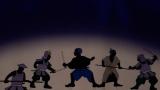 本能寺の変・イメージ影絵。織田信長を守る弥助の姿=『Black Samurai 〜信長に仕えたアフリカン侍・弥助〜』5月15日、BSプレミアムで放送 (C)NHK