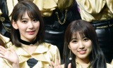 HKT48の生配信イベントにサプライズ登場した宮脇咲良(左)と矢吹奈子(写真は2019年1月撮影) (C)ORICON NewS inc.
