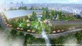 鳥瞰図を初公開! 「ワーナー ブラザース スタジオツアー東京 ‐メイキング・オブ ハリー・ポッター」緑化計画イメージ図。樹木の生育状況に応じて緑豊かな景観を楽しめる開発を目指す