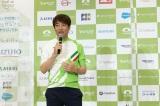 サイクリングイベント『ツール・ド・東北 2021 特別大会』の記者発表会に参加した中西哲生氏