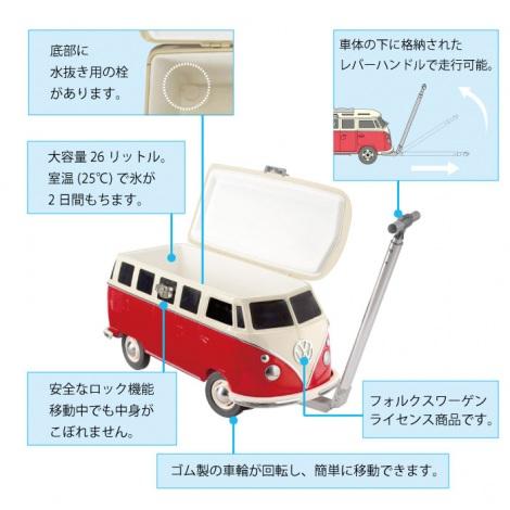 『フォルクスワーゲン(VW)T1バスのクーラーボックス』