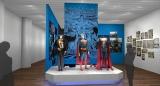 展示エリア:SUPERMANパース=『DC展 スーパーヒーローの誕生』 DC SUPER HEROES and all related characters and elements (c) & TM  DC Comics. WB SHIELD: (c)& TM WBEI. (s21)