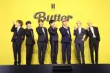 デジタルシングル「Butter」グローバル記者会見を行ったBTS(左から)V、SUGA、JIN、JUNG KOOK、RM、JIMIN、J-HOPE(C)BIGHIT MUSIC