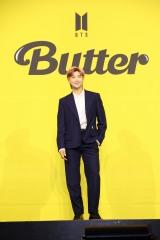 デジタルシングル「Butter」グローバル記者会見を行ったBTS・RM(C)BIGHIT MUSIC