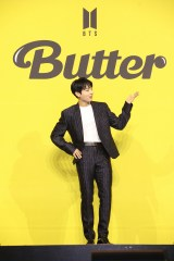 デジタルシングル「Butter」グローバル記者会見を行ったBTS・JUNG KOOK(C)BIGHIT MUSIC