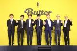 『グラミー賞』への思いを語ったBTS(左から)V、SUGA、JIN、JUNG KOOK、RM、JIMIN、J-HOPE(C)BIGHIT MUSIC