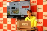「JAタウン」の公式アンバサダーに就任した石川佳純選手