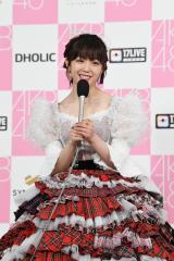 卒業コンサートを終えて晴れやかな笑顔を見せる峯岸みなみ=『17LIVE presents AKB48 15th Anniversary LIVE 峯岸みなみ卒業コンサート〜桜の咲かない春はない〜』(C)AKB48