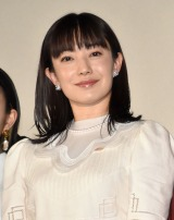 映画『明日の食卓』の初日舞台あいさつに登壇した菅野美穂 (C)ORICON NewS inc.