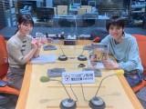 『ネトフリアニメpresents 吉田尚記のFUKABOLIX(フカボリックス)』に出演する(左から)高野麻里佳、吉田尚記(C)ニッポン放送