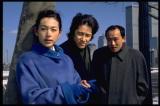 「ニューヨークでの出来事」(左から)鈴木保奈美、田村正和さん、西村まさ彦さん(C)フジテレビ