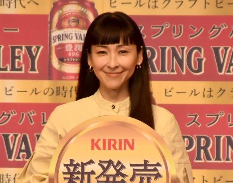 『「ビールはクラフトビールの時代へ」祝杯式』に参加した麻生久美子 (C)ORICON NewS inc.