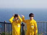 東京都青ヶ島で流れ星の観測に挑む流れ星☆=『千鳥のニッポン未来島』TBS系28局ネットで6月6日放送 (C)RSK