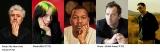 新設された「Global Spotlight Award」ノミネート作品関係者(左から)ペドロ・アルモドバル監督、ビリー・アイリッシュ、トレイボン・フリー、ジュード・ロウ、ウォン・カーウァイ