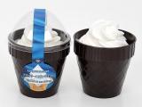 見た目や味でソフトクリームを感じさせる「ソフトクリームみたいなプリン」(226円)