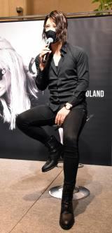 『HANKYU MEN'S TOKYO × CHRISTIAN ROLAND POP UP STORE』の記者会見に出席したローランド (C)ORICON NewS inc.