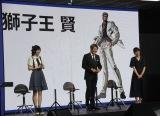 サミーの新規事業『m』に関する発表会に参加した(左から)中島由貴、近藤真彦、永島聖羅 (C)ORICON NewS inc.