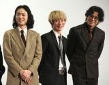 映画『キャラクター』の初日舞台あいさつに登場した(左から)菅田将暉、Fukase、小栗旬 (C)ORICON NewS inc.