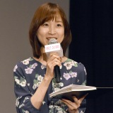 映画『漁港の肉子ちゃん』公開記念舞台あいさつに登壇した増山さやかアナ (C)ORICON NewS inc.