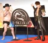 映画『モータルコンバット』の公開直前イベントに参加した(左から)ハリウッドザコシショウ 、西川貴教(C)ORICON NewS inc.