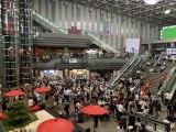 400人のエキストラが空港ロビーで大暴れ