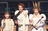 舞台『首切り王子と愚かな女』取材会に出席した(左から)伊藤沙莉、井上芳雄、村麻由美 (C)ORICON NewS inc.