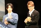 """映画『ピーターラビット2/バーナバスの誘惑』ウサギ""""超""""まみれイベントに登場した(左から)千葉雄大、哀川翔 (C)ORICON NewS inc."""