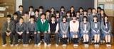 WOWOWショートショート劇場『こころのフフフ』主人公が通う円山高校1年1組の集合写真(C)WOWOW
