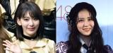 卒業を控えるHKT48の宮脇咲良(左)とNMB48の白間美瑠 (C)ORICON NewS inc.