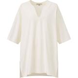 エアリズムコットンオーバーサイズT(5分袖)ホワイト(XS〜XXL)1,990円(税込)