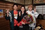 20日に最終回を迎える『コントが始まる』をクランクアップした仲野太賀、菅田将暉、神木隆之介 (C)日本テレビ