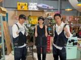 25日、7月9日放送『NEWSの全力!! メイキング』に出演するNEWSの加藤シゲアキ、山本美月、小山慶一郎 (C)TBS