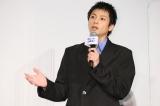 映画『ヒノマルソウル〜舞台裏の英雄たち〜』公開記念舞台あいさつに出席した山田裕貴
