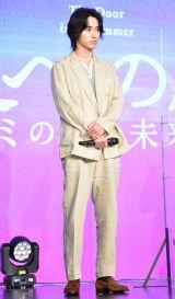 映画『夏への扉 -キミのいる未来へ-』公開直前イベントに登壇した山崎賢人 (C)ORICON NewS inc.