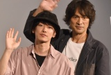 歌舞伎町デートをするもバレなかったと明かした(左から)佐藤健、江口洋介 (C)ORICON NewS inc.