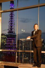 ひばりさん33回忌、東京タワー紫に