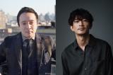 NHK・BSPドラマ×マンガ『特攻兵の幸福食堂』に出演する(左から)濱田岳、津田健次郎