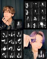 BTSのV(上段)とJUNG KOOK(下段)がフォトブースで撮ったセルフ写真撮影映像公開(C)BIGHIT MUSIC