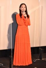 鮮やかオレンジドレス姿で会場を魅了した清原果耶 (C)ORICON NewS inc.