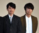映画『夏への扉 −キミのいる未来へ−』の初日舞台あいさつに出席した(左から)藤木直人、眞島秀和 (C)ORICON NewS inc.