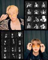 BTSのJ-HOPE(上段)とJIN(下段)がフォトブースで撮ったセルフ写真撮影映像公開(C)BIGHIT MUSIC