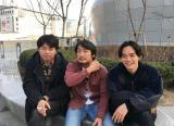 2017年3月、ソウルにて。石井さん、パクさん、池松。photo by スタッフ=映画『アジアの天使』(公開中)オフショット(C)2021 The Asian Angel Film Partners
