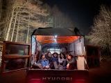 極寒の夜。-15℃。トラックの5人。photo by スタッフ=映画『アジアの天使』(公開中)オフショット(C)2021 The Asian Angel Film Partners