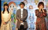 アニメ映画『リクはよわくない』取材会に出席した(左から)浅野真澄、森久保祥太郎、松本梨香 (C)ORICON NewS inc.
