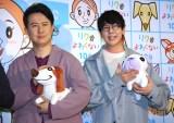 アニメ映画『リクはよわくない』取材会に出席した(左から)杉田智和、花江夏樹 (C)ORICON NewS inc.